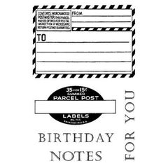 Birthday Notes Clear Stamp