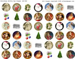 454 Christmas Bottle Cap Images Digital