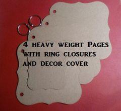 Die cut Chipboard Fancy book