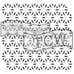 6x6 Fireworks stencil