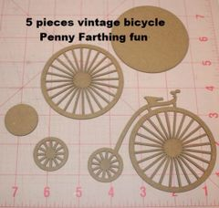 Die Cut Bicycle Penny Farthing