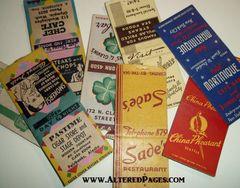 Vintage Matchbook Covers (3)