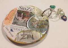 Upcycled Coasters and Wine Glass rings