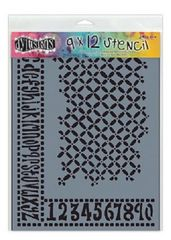 Dylusions Stencil Alpha Numeric Border