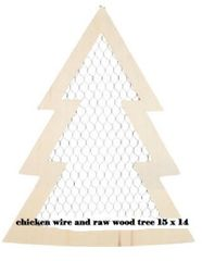 Wood and Chicken Wire Tree