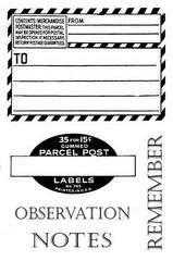 Observation Notes stamps