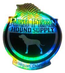 Red Fern Hologram Decal