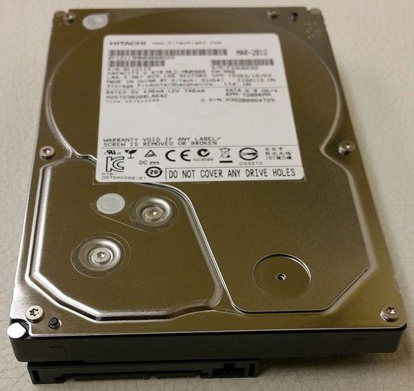 """Hitachi HDS723020BLA642 0F12115 2TB 7200 RPM 64MB SATA III 6Gbps 3.5"""" Hard Drive"""
