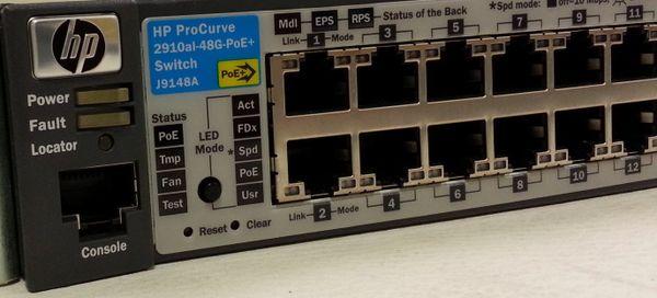 J9148A HP ProCurve 2910 al 48G PoE+ Ethernet Switch Layer 3