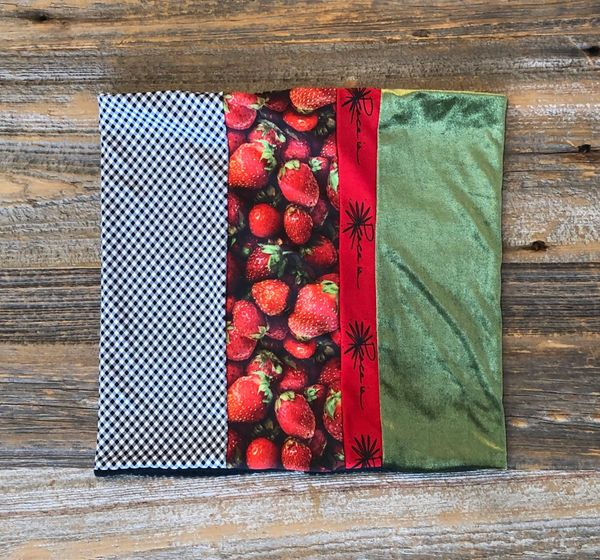 Strawberry Fields Peacework Neckie / Neck Gaiter / Neck Warmer