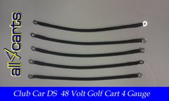 Club Car DS 48 Volt Battery Cable Set | 4 Gauge Upgrade