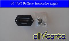 Golf Cart Battery Meter 36 Volt Battery indicator light