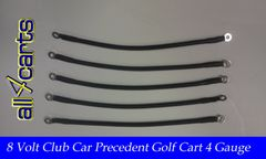 Club Car Precedent 8 Volt Battery Cable Set | 4 Gauge Upgrade