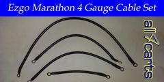 Ezgo Marathon Battery Cable Set - 4 Gauge Upgrade