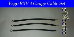 Ezgo RXV Battery Cable Set - 4 Gauge Upgrade