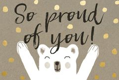 Gift Postcard 'So proud of you'