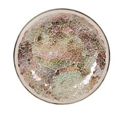 Natural crackle effect candle plate