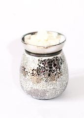 Silver Crackle Effect Electric Wax Warmer