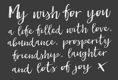 Gift Postcard 'My wish for you'
