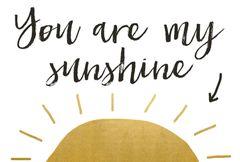 Gift Postcard 'you are my sunshine'
