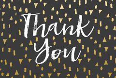 Gift Postcard 'Thank you'