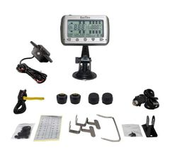 TIRE PRESSURE & TEMPERATURE MONITORING SYSTEMS (TPMS - 4 Anti-Theft Sensors + Booster)