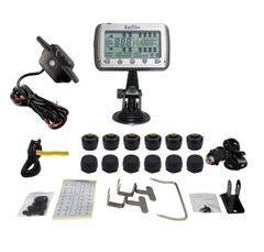 TIRE PRESSURE & TEMPERATURE MONITORING SYSTEMS (TPMS - 12 Anti-Theft Sensors + Booster)