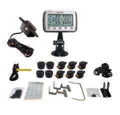 TIRE PRESSURE & TEMPERATURE MONITORING SYSTEM (TPMS - 10 Mixed Sensors + Booster)