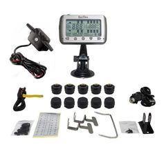 TIRE PRESSURE & TEMPERATURE MONITORING SYSTEMS (TPMS - 10 Anti-Theft Sensors + Booster)