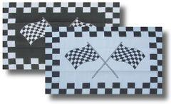 REVERSIBLE RV/PATIO MAT W/UV STABILIZER (CHECKERED FLAG DESIGN)