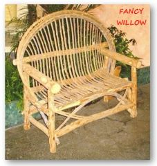 Auberge Country Home Décor: Tahoma Cabin Loveseat - Handcrafted Pool and Patio Furniture