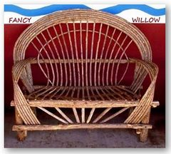 Big Sur Country Home Décor: Easter Special, Tubac Log Cabin Loveseat - Handcrafted Pool and Patio Furniture