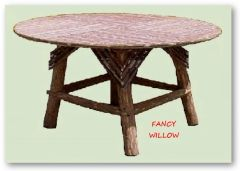 High Pointe Country Home Décor: Sundance Log Cabin Dining Table - Handcrafted Pool and Patio Furniture