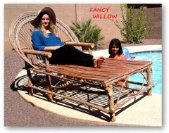 Sun Valley Country Home Décor: Tahoe Chula Chaise Longue - Handcrafted Pool and Patio Furniture