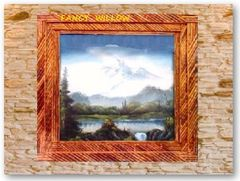 Dos Brisas Country Home Décor: Teton Lodge Picture Frame - Handcrafted Pool and Patio Furniture