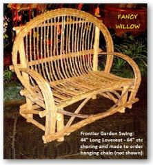 Westgate Country Home Décor: Frontier Porch Swing - Handcrafted Pool and Patio Furniture