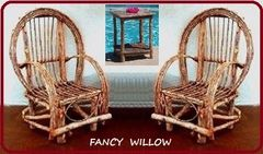 Columbus Day Special: Willow Furniture Special - Frontier Cabin: 3 Piece Set - Handcrafted Pool and Patio Furniture