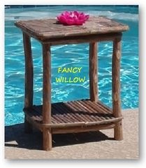 High Pointe Country Home Décor: Nevada Poolside End Table - Handcrafted Pool and Patio Furniture