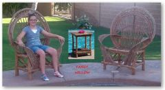 Pebble Beach Home Décor: Tucson Poolside Set, 3 Pieces - Handcrafted Pool and Patio Furniture