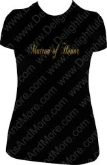 MATRON OF HONOR SPARKLY TEE