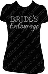 BRIDE'S ENTOURAGE RHINESTONE BLING TEE