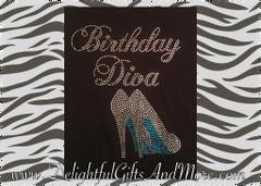 BIRTHDAY DIVA RHINESTONE BLING TEE