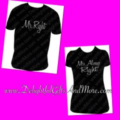 MR. RIGHT AND MRS. ALWAYS RIGHT SHIRT SET