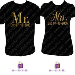 MR. AND MRS. SHIRT SET WITH WEDDING DATE