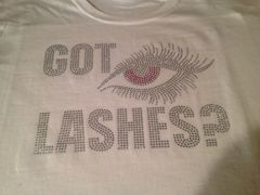 GOT LASHES? RHINESTONE BLING TEE