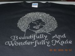 BEAUTIFULLY AND WONDERFULLY MADE RHINESTONE BLING TEE
