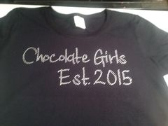 CHOCOLATE GIRLS ORGANIZATION BLING TEE
