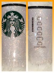 Personalized Glitter Starbucks Inspired Tumbler