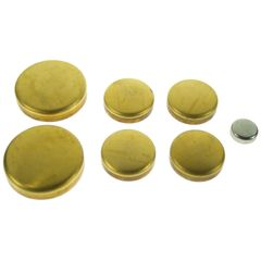 Frost Plug Set - Brass (Melling MPE133BR) 71-82