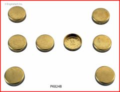 Frost Plug Set - Brass (EngineTech PK824B) 02-12
